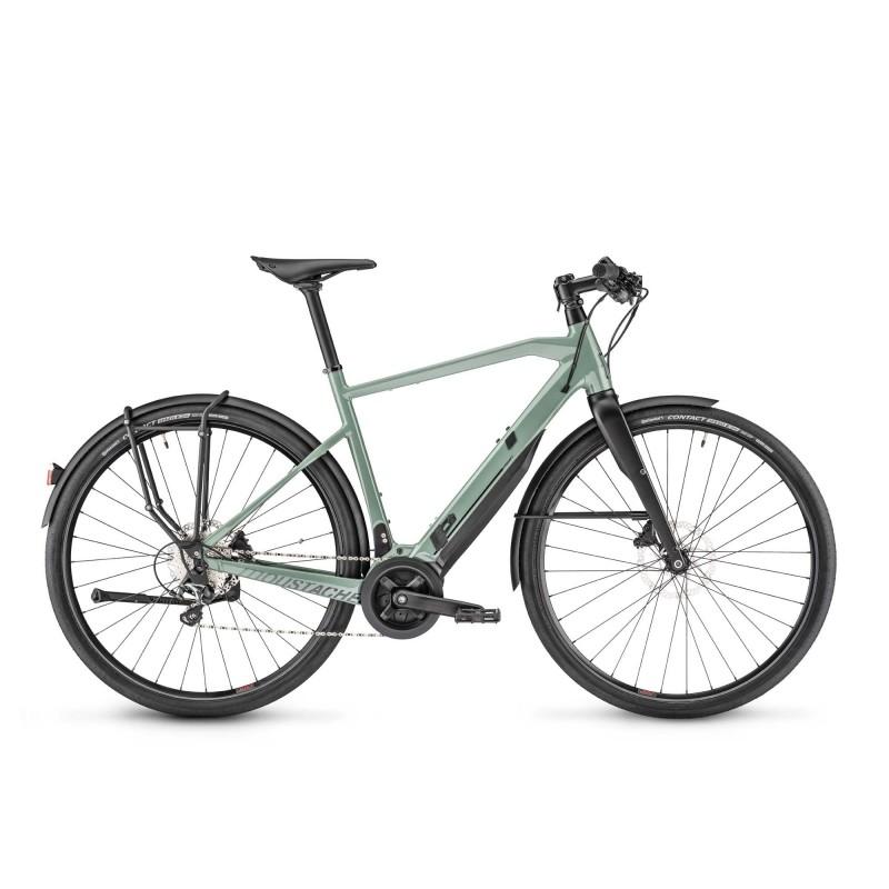 Moustache Friday 28.3 - Vélo électrique - Val de Loire Vélo Tours-Blois Taille M Cadre Cadre fermé Couleur Vert Pastel