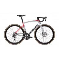 Ridley Noah FAST Disc Ultegra Di2 argent-rouge chez Val de Loire Vélo Taille XS