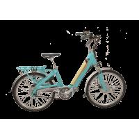 "Vélo Facile Urban 24"" turquoise-vanille 2021 chez Véloland Blois"