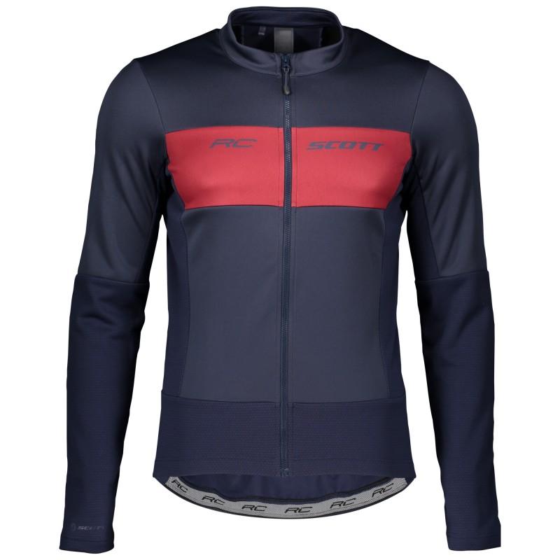 Scott Veste RC Warm Hybrid WB Bleu/Rouge - Val de Loire Vélo - Tours Blois Taille S