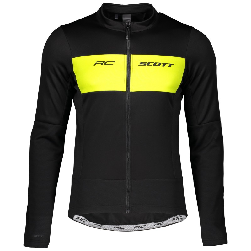 Scott Veste RC Warm Hybrid WB Noir/Jaune - Val de Loire Vélo - Tours Blois Taille S
