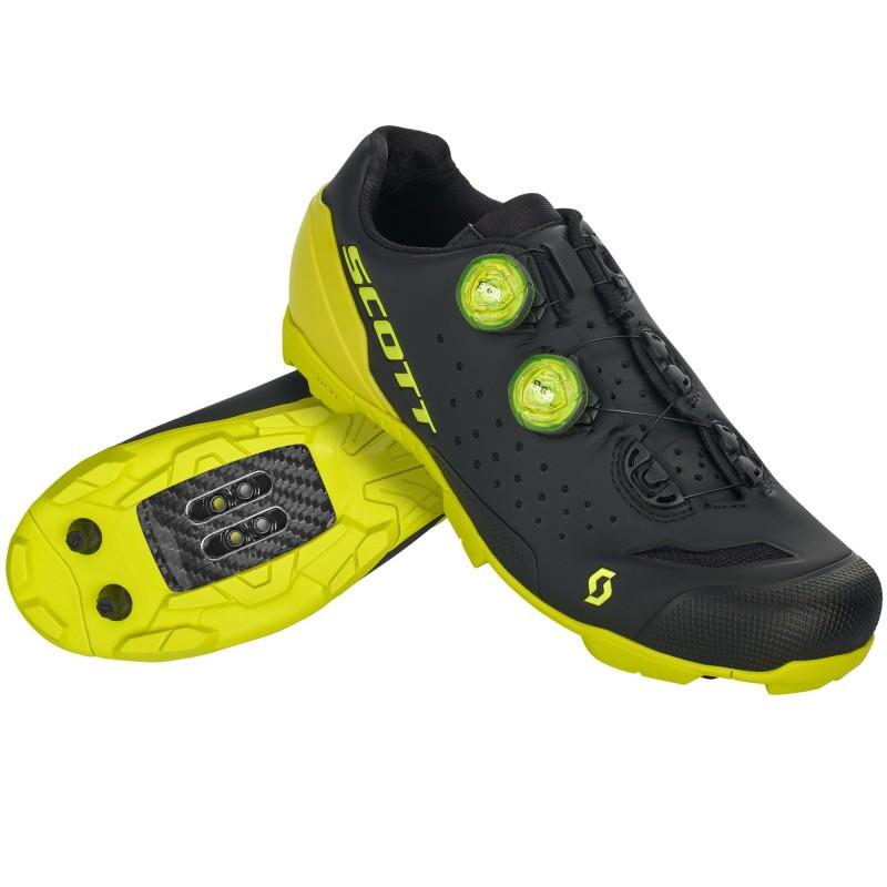 Scott Chaussures MTB RC Noir/Jaune - Val de Loire Vélo - Tours Blois Taille 42