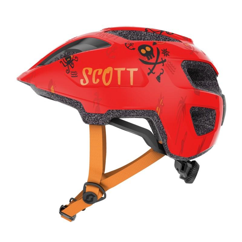 Scott Casque Spunto Kid - Val de Loire Vélo - Tours Blois Couleur Rouge