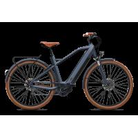 """O2feel iSwan Urban Brooks Limited - Vélo électrique - Val de Loire Vélo Batterie  iPowerPack 432 Wh Taille M - Roues 28"""" Couleur Gris Anthracite"""