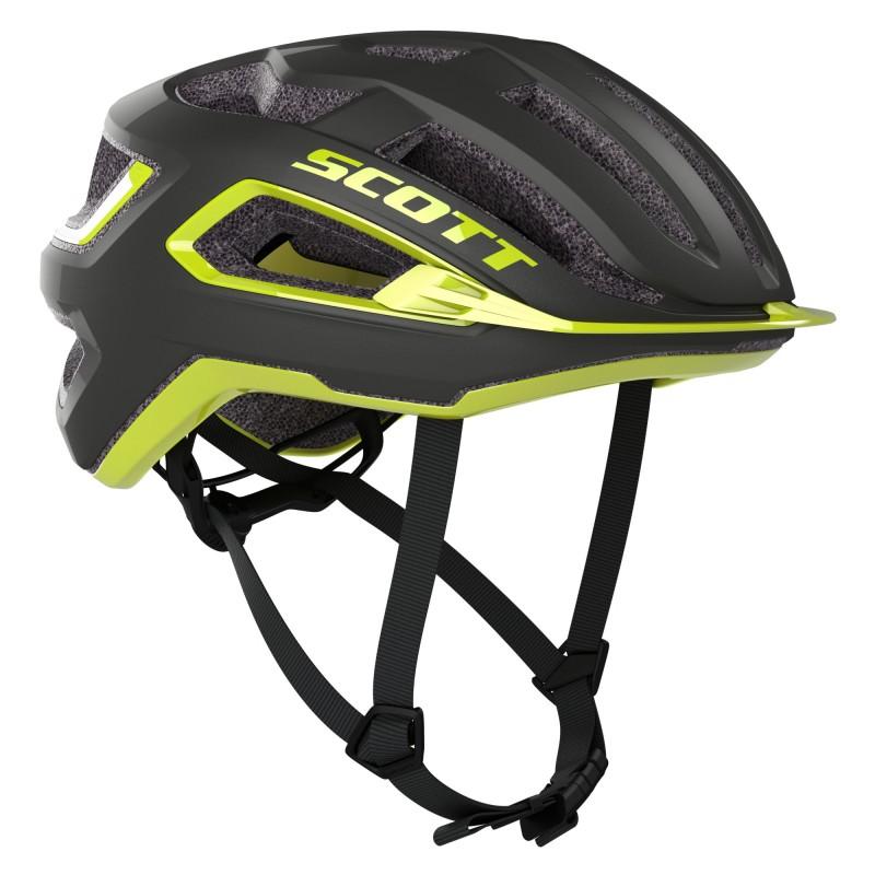 Scott Casque ARX Plus Noir/Jaune - Val de Loire Vélo Tours-Blois Taille M