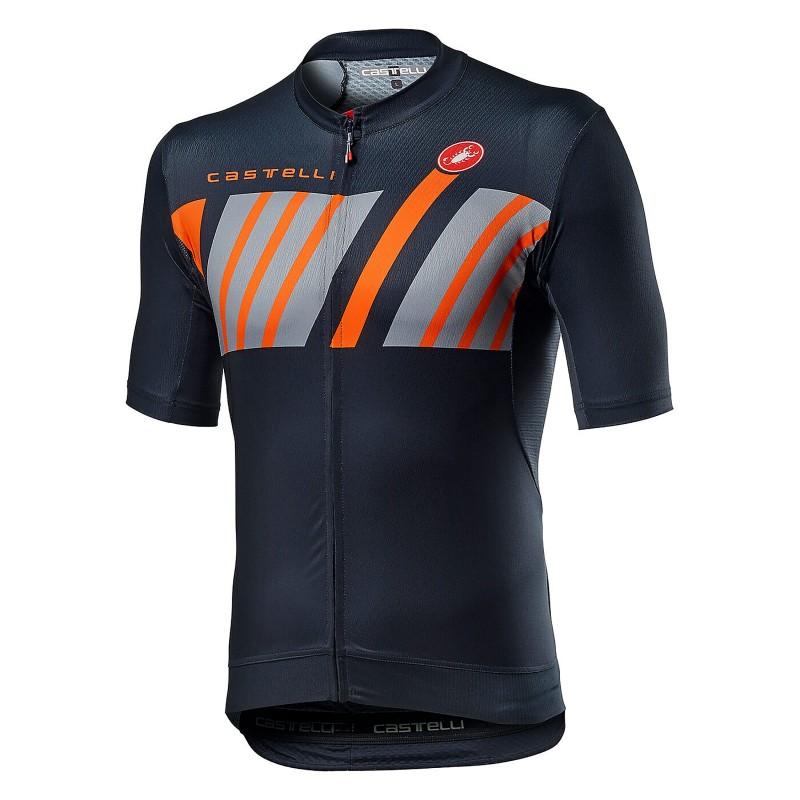 Castelli Maillot Hors Categorie Savile Blue - Val de Loire Vélo - Tours Blois Taille XS
