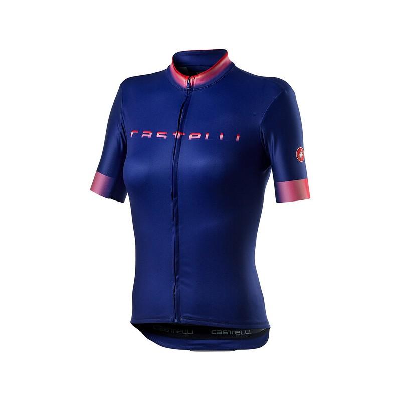 Castelli Maillot Gradient Femme Bleu - Val de Loire Vélo - Tours Blois Taille XS