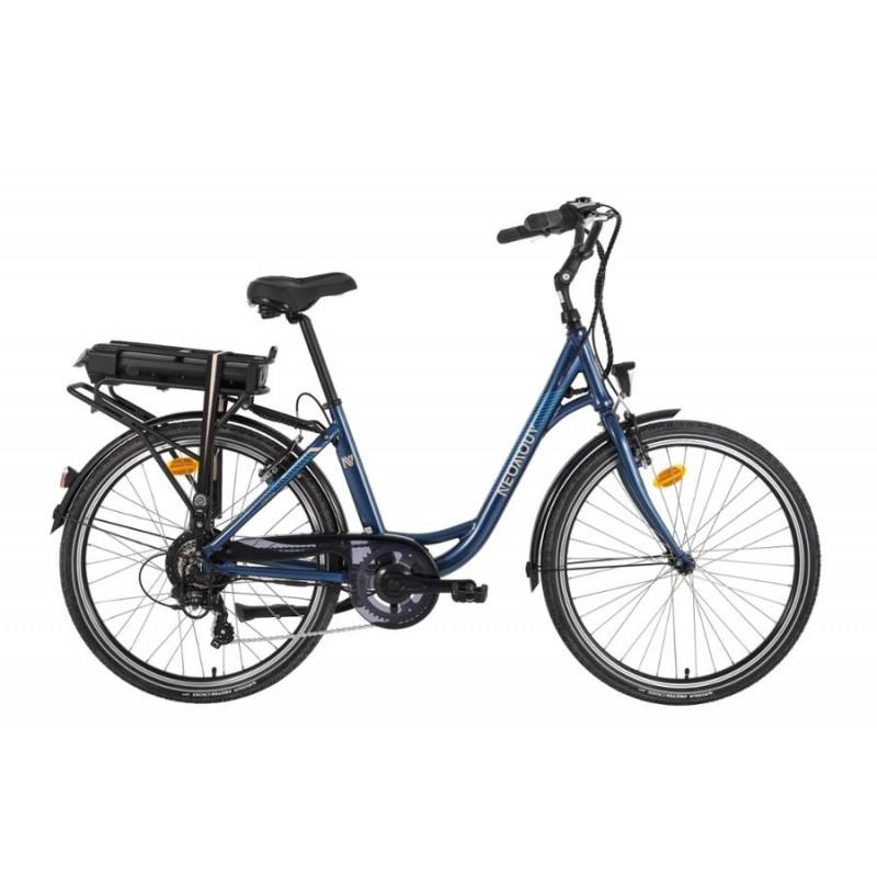 """Neomouv Linaria 26"""" Bleu 2021 - Val de Loire Vélo Tours-Blois Taille 44 Batterie 480 Wh"""