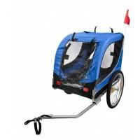 Remorque bleue pour chien chez Val de Loire Vélo Tours et Blois