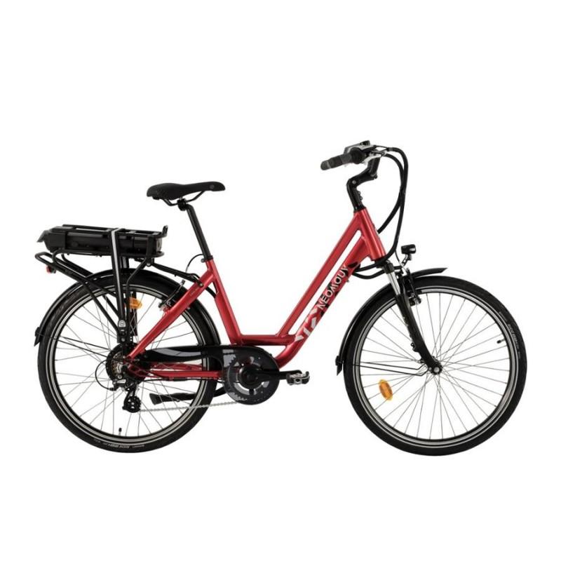 """Neomouv Carlina 28"""" rouge - Val de Loire Vélo Tours-Blois Batterie 480 Wh"""