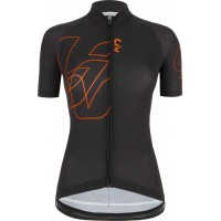 Liv Maillot MC Valentia noir-orange 2020 chez Val de Loire Vélo Tours et Blois Taille S