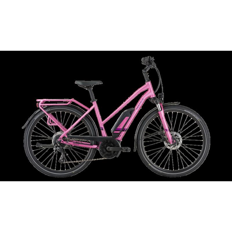 Pegasus Solero E9 Lite trapèze 2021 rose 500wh chez Val de Loire Vélo Taille 50