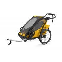 Thule Chariot Sport 1 jaune chez Val de Loire Vélo Tours et Blois