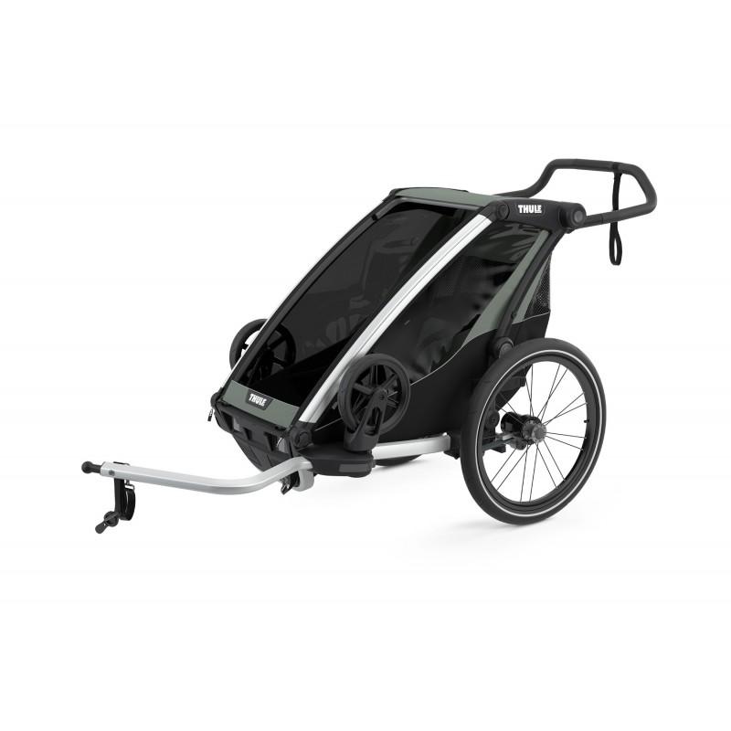 Thule Chariot Lite 1 gris-noir chez Val de Loire Vélo Tours et Blois