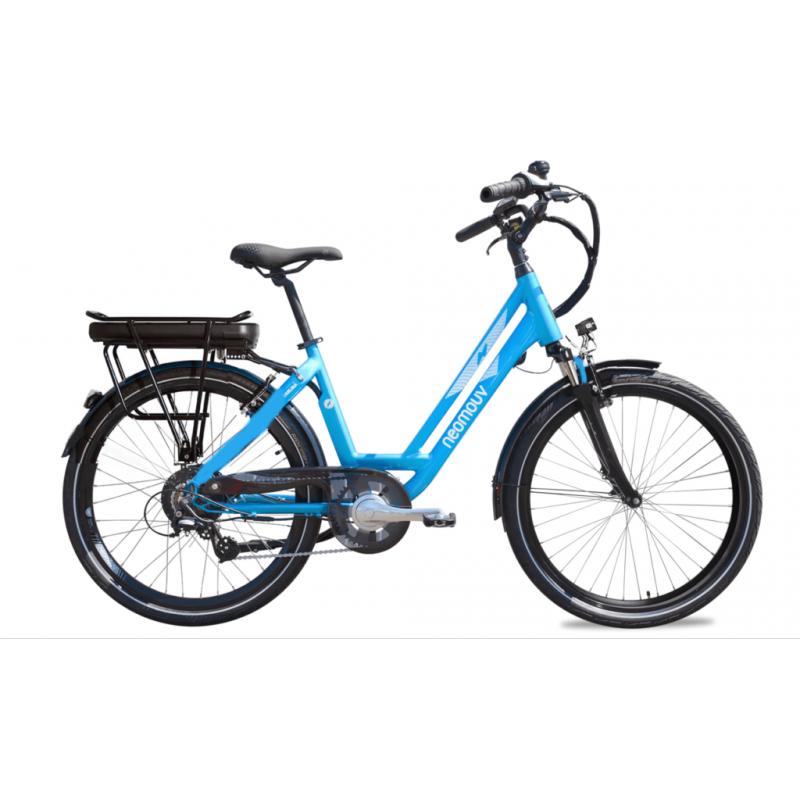"""Neomouv Carlina 28"""" bleu - Val de Loire Vélo Tours-Blois Batterie 480 Wh"""