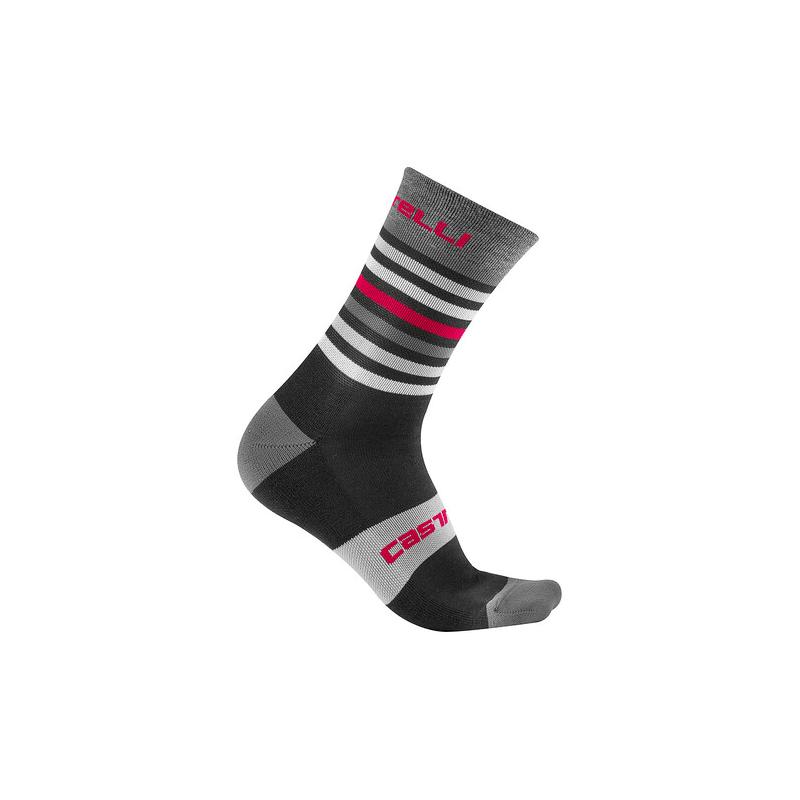 Castelli chaussettes Gregge 15 noir et rouge  Val de Loir vélo Taille XXL