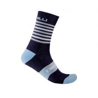 Castelli chaussettes Gregge 15 bleu foncé  Val de Loir vélo Taille XXL
