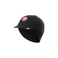 Castelli casquette Difesa thermal noir et rouge Val de Loire vélo