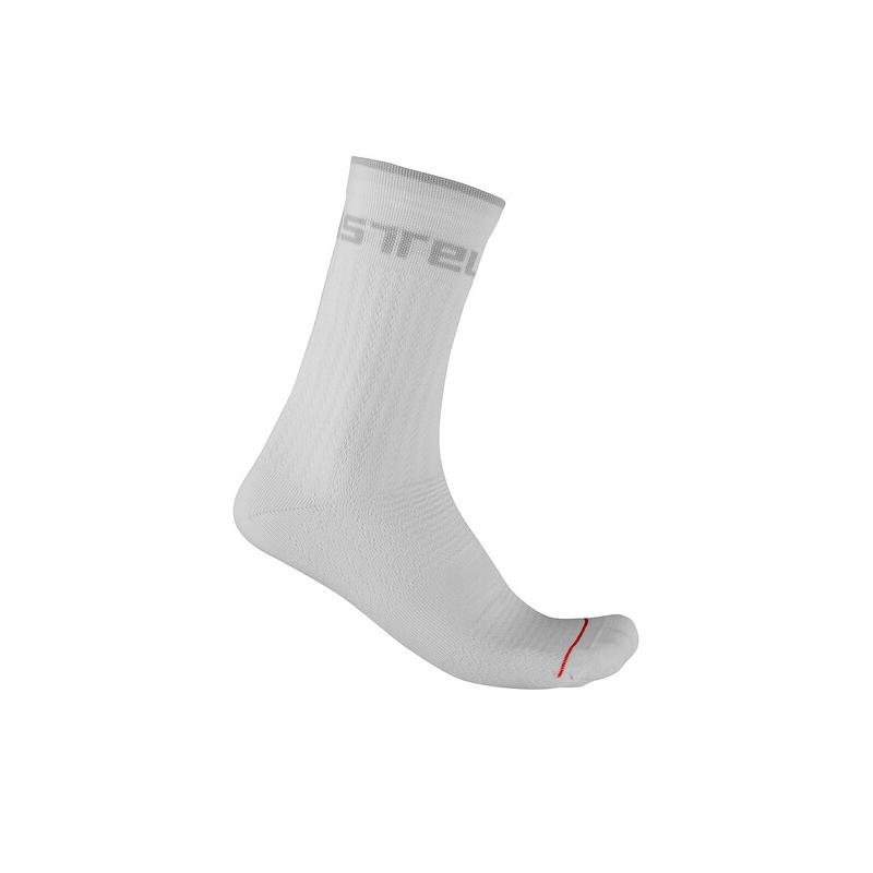 Castelli chaussettes Distanza 20 blanc Val de Loire vélo Taille S/M