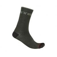 Castelli chaussettes Distanza 20 vert kaki Val de Loire vélo Taille S/M