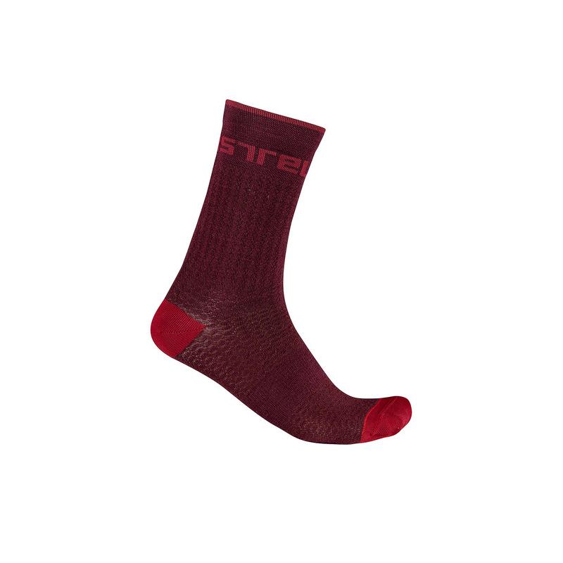 Castelli chaussettes Distanza 20 rouge Val de Loire vélo Taille S/M