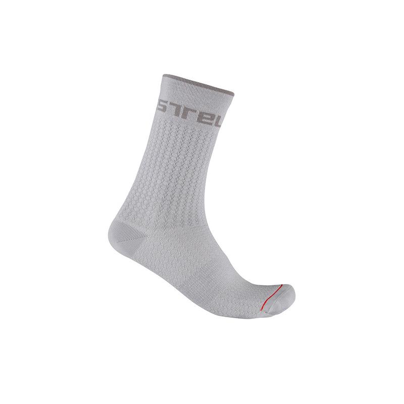 Castelli chaussettes Distanza 20 gris Val de Loire vélo Taille S/M