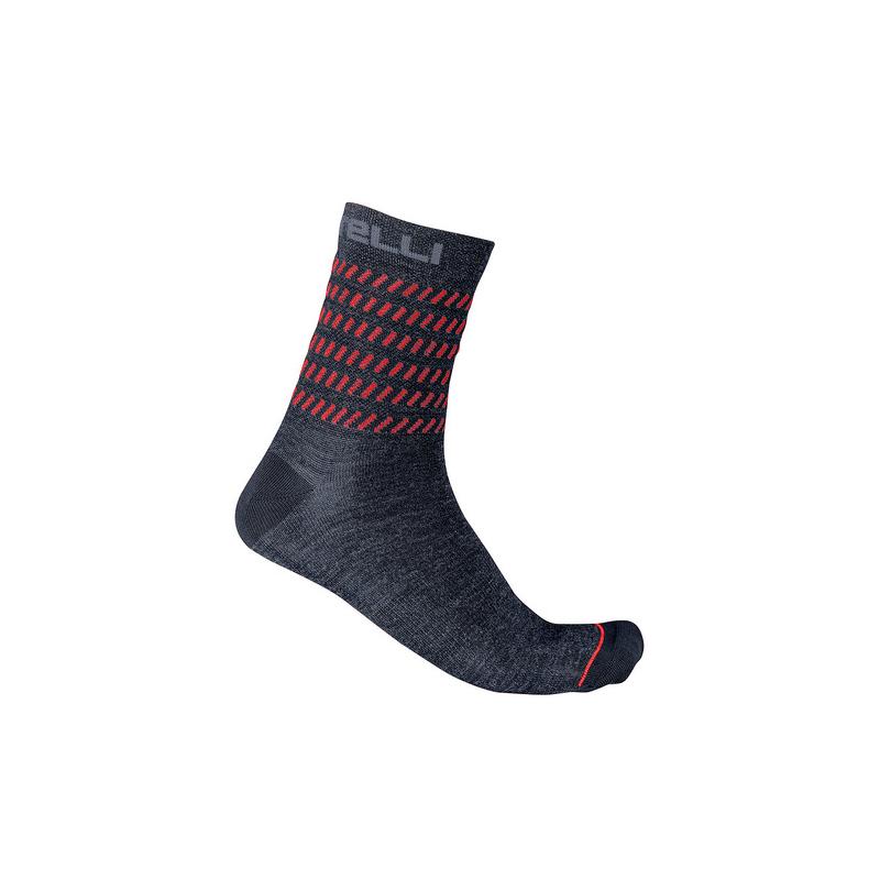 Castelli chaussettes GO 15 rouge et bleu Val de Loire vélo Taille S/M