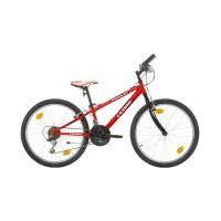 """VTT Cedric 24"""" - Val de Loire Vélo Tours-Blois Couleur Rouge Tailles de roues 24"""""""