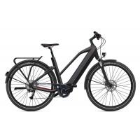 """O2feel iSwan Adventure Boost 6.1 - Vélo électrique - Val de Loire Vélo Tours et Blois Batterie  iPowerPack 432 Wh Taille S - Roues 26"""" Couleur Noir Intense"""
