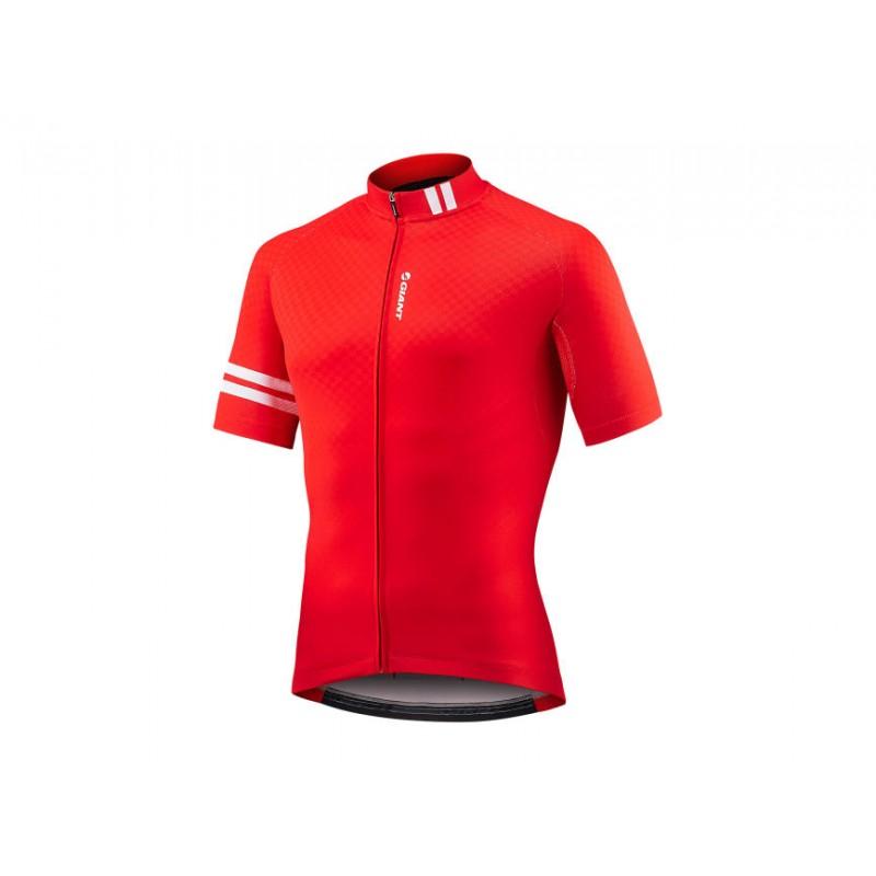 Giant Maillot MC Podium rouge chez Val de Loire Vélo Taille S