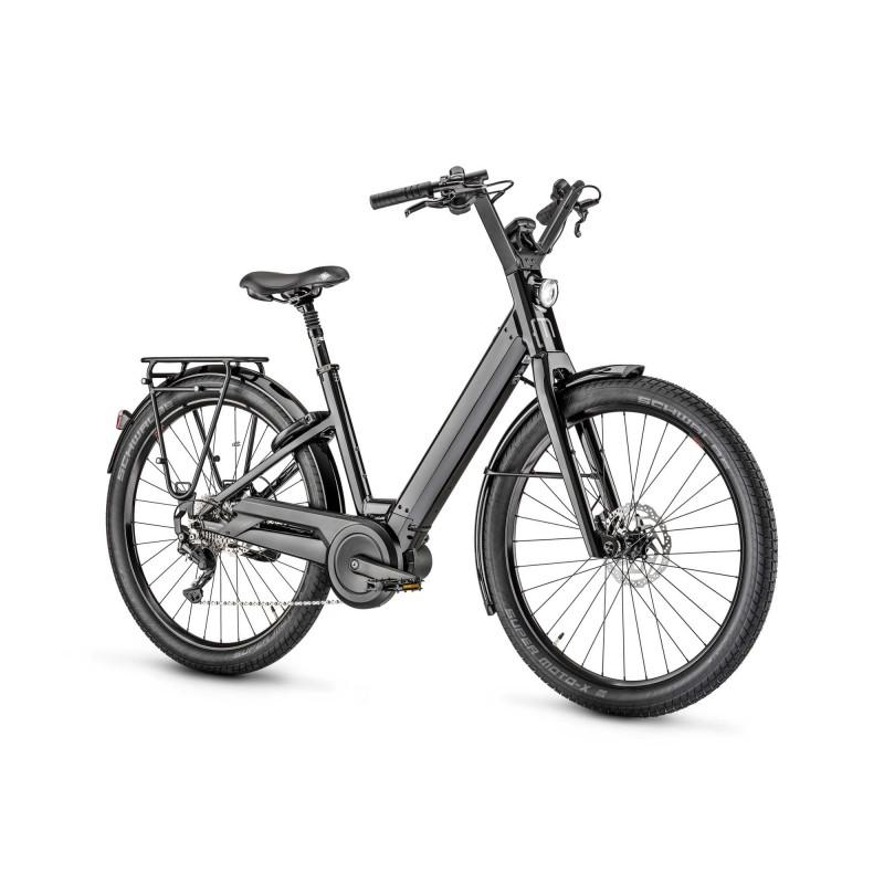 """Moustache Lundi 27.3 - Vélo électrique - Val de Loire Vélo Tours et Blois Tailles de roues 27.5"""" Couleur Noir brillant"""